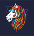 horse head colorful vector image vector image
