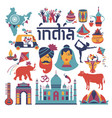 india set asia country indian architecture vector image vector image