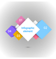 Infographic Four squares vector image
