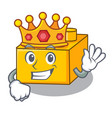 king plastic building tyos shaped on mascot vector image
