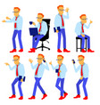 man set modern gradient colors people in vector image vector image