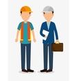 men worker construction helmet icon graphic vector image vector image