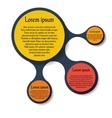 Metaball round diagram infographics vector image