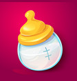 milk baby bottle illlustration vector image