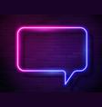 neon gradient glowing speech bubble sign vector image