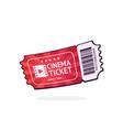 one retro cinema ticket with barcode vector image vector image