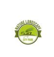 park nature landscape icon for landscaping design vector image vector image