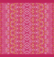 pink geometric striped fabric pattern design vector image vector image