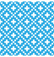 pixel style seamless pattern blue vector image