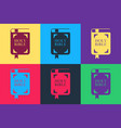 pop art holy bible book icon isolated on color vector image vector image