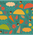 seamless autumn pattern with umbrella vector image vector image