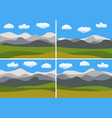set of four images with natural cartoon landscapes vector image