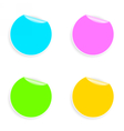 Set of multicolored round stickers vector image