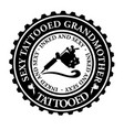 sexy tattooed grandmother vector image vector image