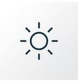 shine icon line symbol premium quality isolated vector image vector image