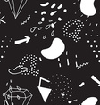 Simple seamless doodle pattern in kitsch vector image