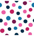 spots seamless pattern background of hand vector image