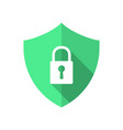 technology communication data security flat vector image