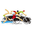 triathlon race expresiv stylized vector image vector image
