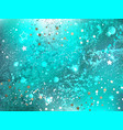 turquoise foil background vector image
