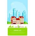 urban landscape flat style banner de vector image