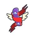 Winged Skateboard Logo Design vector image