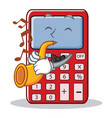 with trumpet cute calculator character cartoon vector image vector image