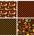Woodland Seamless Pattern Set vector image vector image