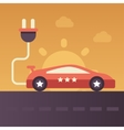 Electric Vehicle - flat design single icon vector image