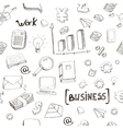business finance doodle hand drawn elements vector image