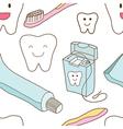 Seamless of teeth care vector image