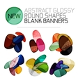 Abstract glossy round shape banners vector image vector image
