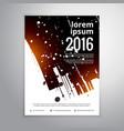 abstract ink splatter business brochure flyer vector image