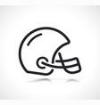 american football helmet line icon vector image vector image