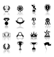 Award icons set black vector image vector image