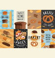 bakery posters and banners set vector image vector image