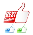 Best Choice Labels vector image