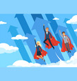 business hero background flying managers power of vector image vector image