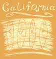 California surf typography t-shirt Printing design vector image