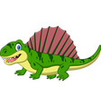 cartoon smiling dimetrodon isolated vector image vector image