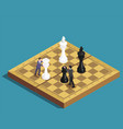 chess game isometric concept vector image