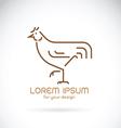 Chicken design vector image vector image