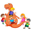 children and some of them use the costume vector image vector image