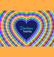 colorful rainbow hearts design background vector image