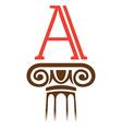 Column and serif letter logo vector image
