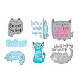 crazy love cat lady shirt quote lettering vector image vector image