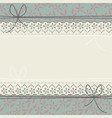 cute lace frame with stylish flowers and leaves vector image vector image