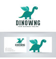 dino wings logo design vector image