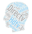 directv satellite hdtv receivers 1 text background vector image vector image