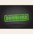 download green vector image vector image